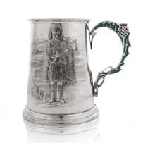 Piper Tankard with Enamel Thistle Handle